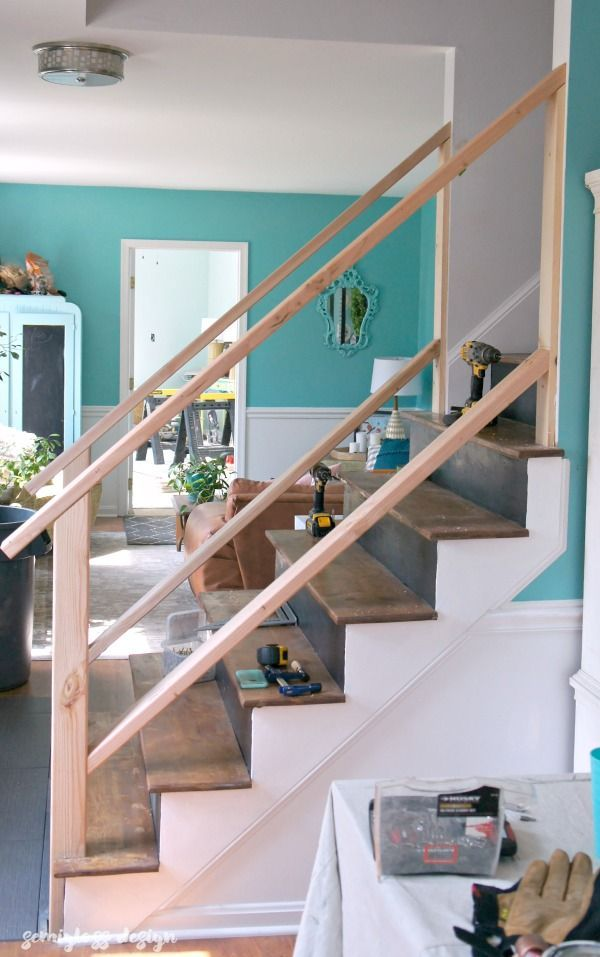 Best Must See Modern Diy Stair Railing Makeover Tutorial Diy 400 x 300
