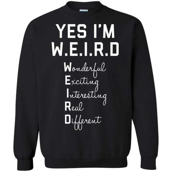 Ja bin ich WEIRD Sweatshirt #casualfashion