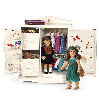 American Girl® Furniture Doll Storage Cabinet - This is what those bins and ribbon  sc 1 st  Pinterest & American Girl® Furniture: Doll Storage Cabinet - This is what those ...
