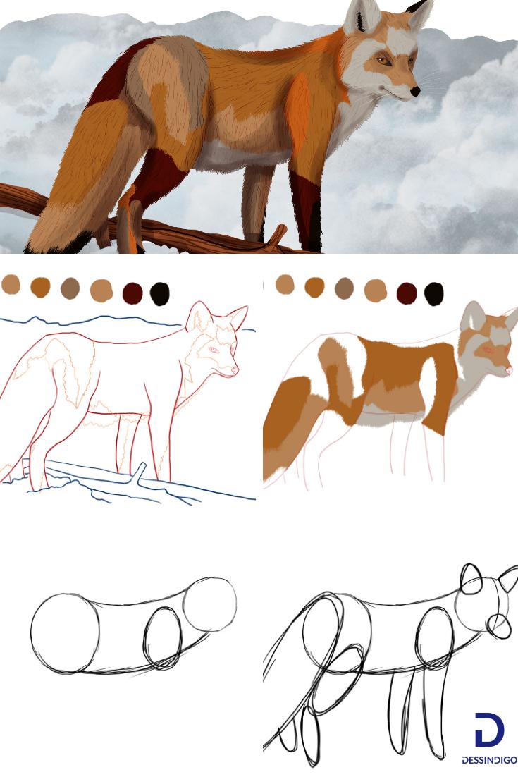 Comment Dessiner Un Renard : comment, dessiner, renard, Comment, Dessiner, Renard, Renard,, Dessin, Peinture