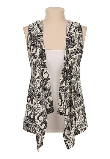 Elephant print hooded vest (original price, $29) available at #Maurices
