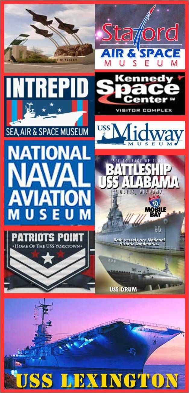 Military & Space Exhibits This vacation, visit these