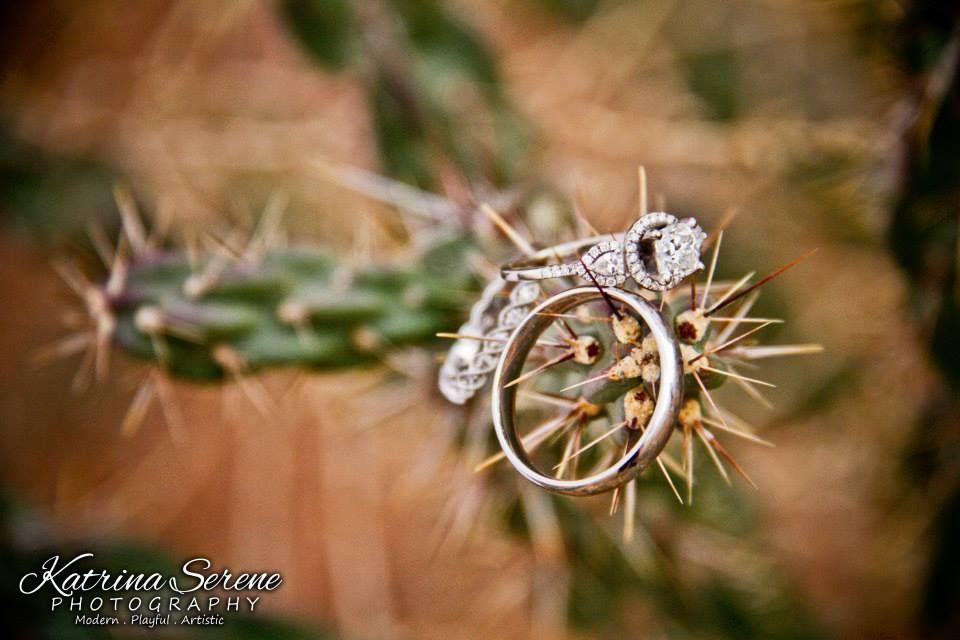 Wedding ring wedding photo taken in Santa Rosa, NM in 2014.
