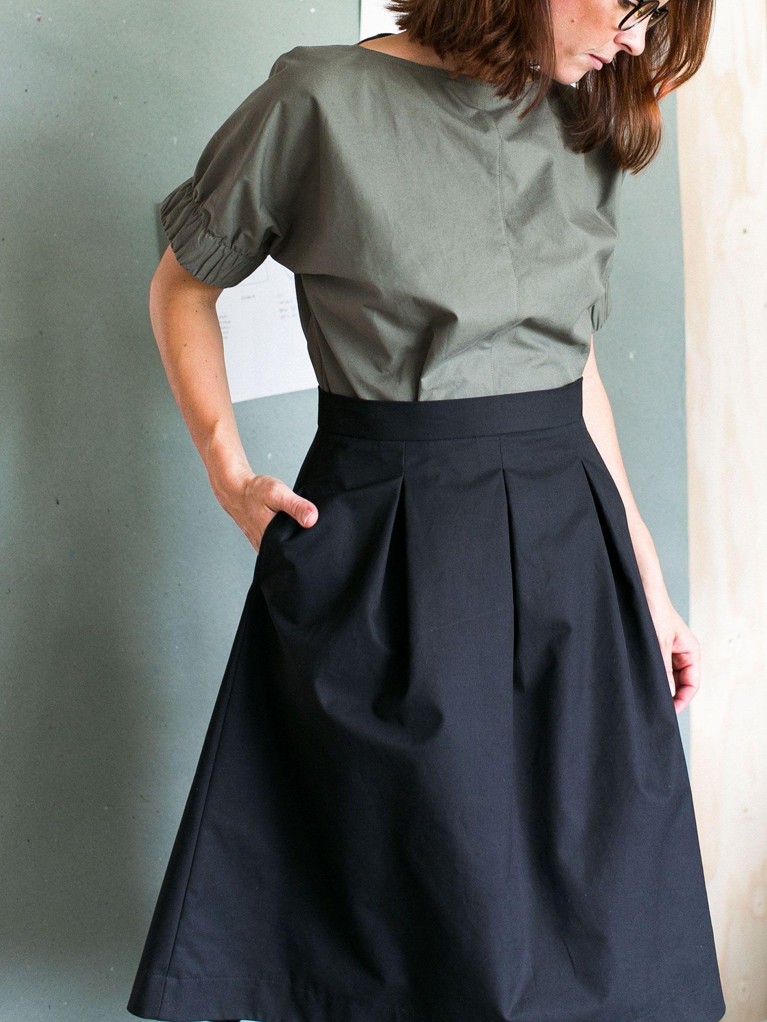 Three pleat skirt pattern | Pinterest | Freebooks, Schnittmuster und ...