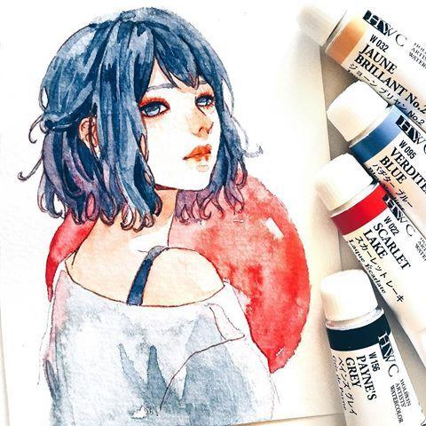 340 Anime Watercolour Art And Cherriuki Art Ideas Art Anime Watercolor Art