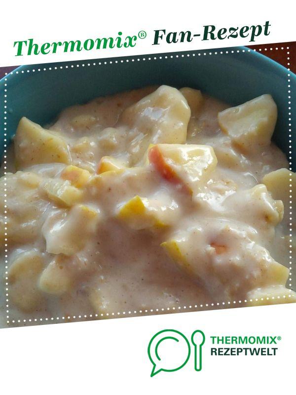 WW Porridge / Haferbrei mit Apfel, Banane und Zimt #gooddrinks