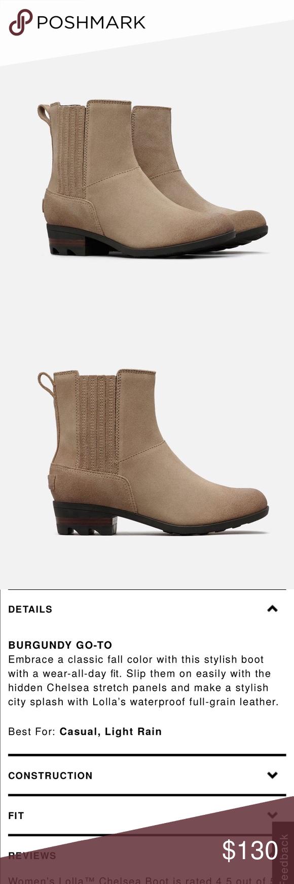 df13804ea23 NEW • Sorel • Lolla Chelsea Ankle Boots Ash Brown - Sorel - Women s - Lolla
