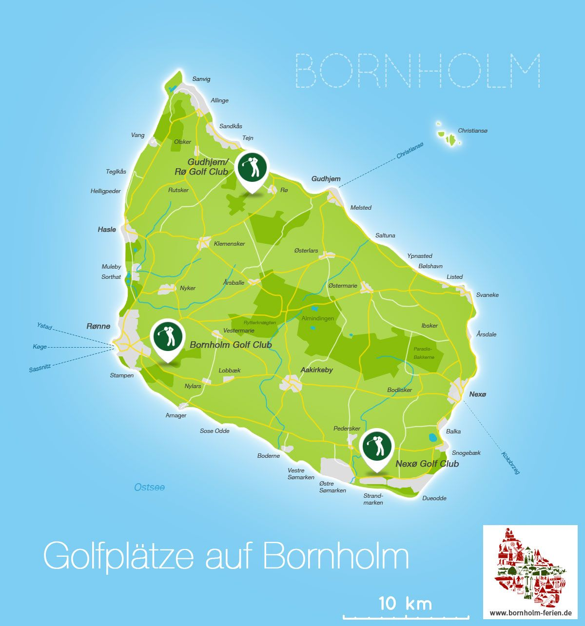 Golfplatze Auf Bornholm Golf Golfplatze Golfcourts Green