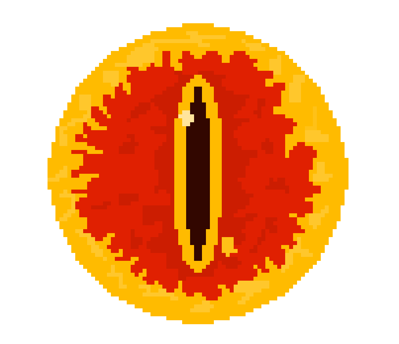 Pixel Art The Eye Of Sauron By Pixel Art Clip Art