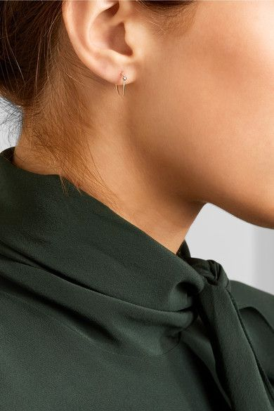 Stone Aura 14-karat Gold Diamond Earrings - one size Sarah & Sebastian VhcK6fb