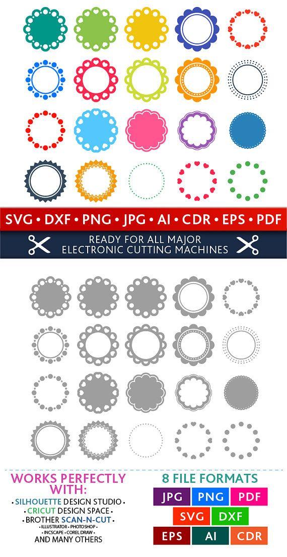 Circle Svg Circle Monogram Frames Svg Circle Frames Svg Circles Svg ...