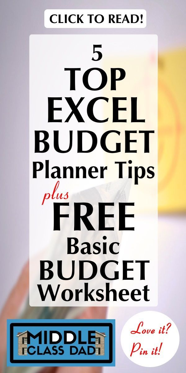 5 Top Excel Budget Planner Tips + Free Basic Budget Worksheet - How To Make A Household Budget Spreadsheet