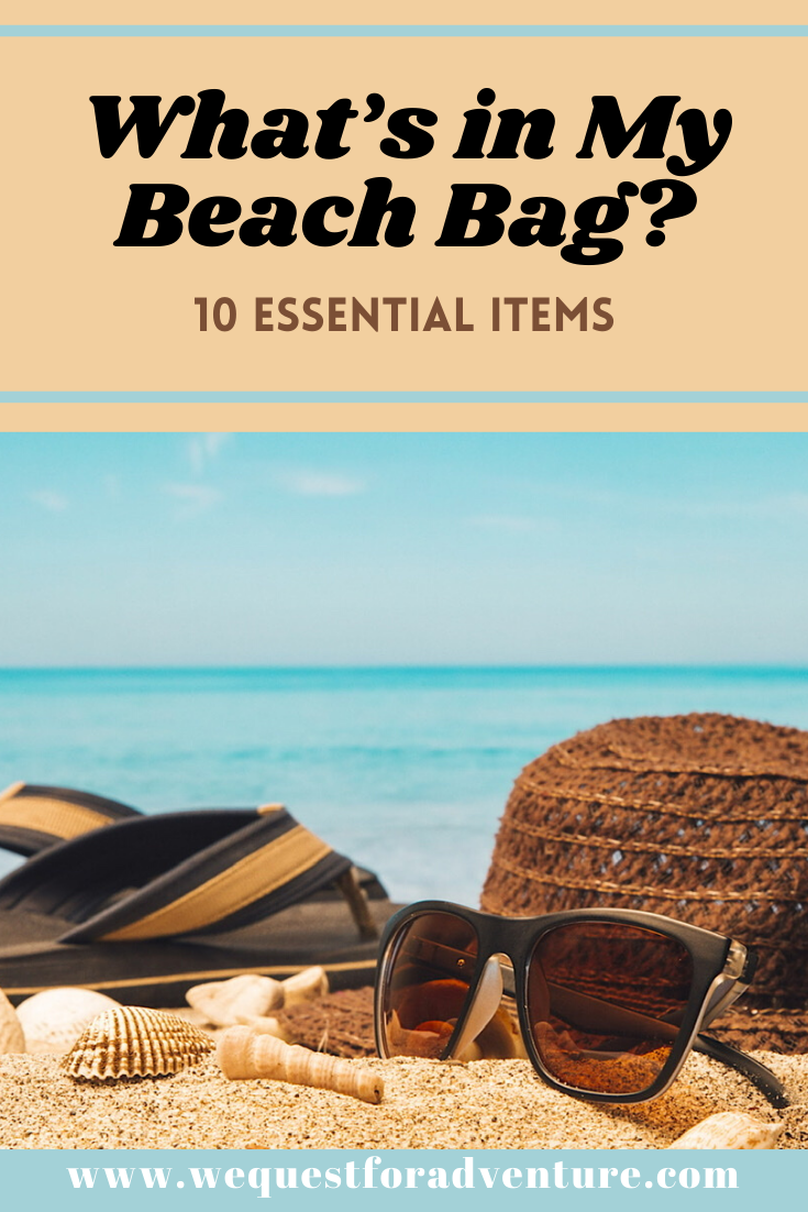 Hitting the beach or pool this summer?  Not sure what to pack for a day at the beach? Well we have you covered! Checkout our list of beach bag essentials for a great day at the beach. #beachbagessentials #beachbag #summertime