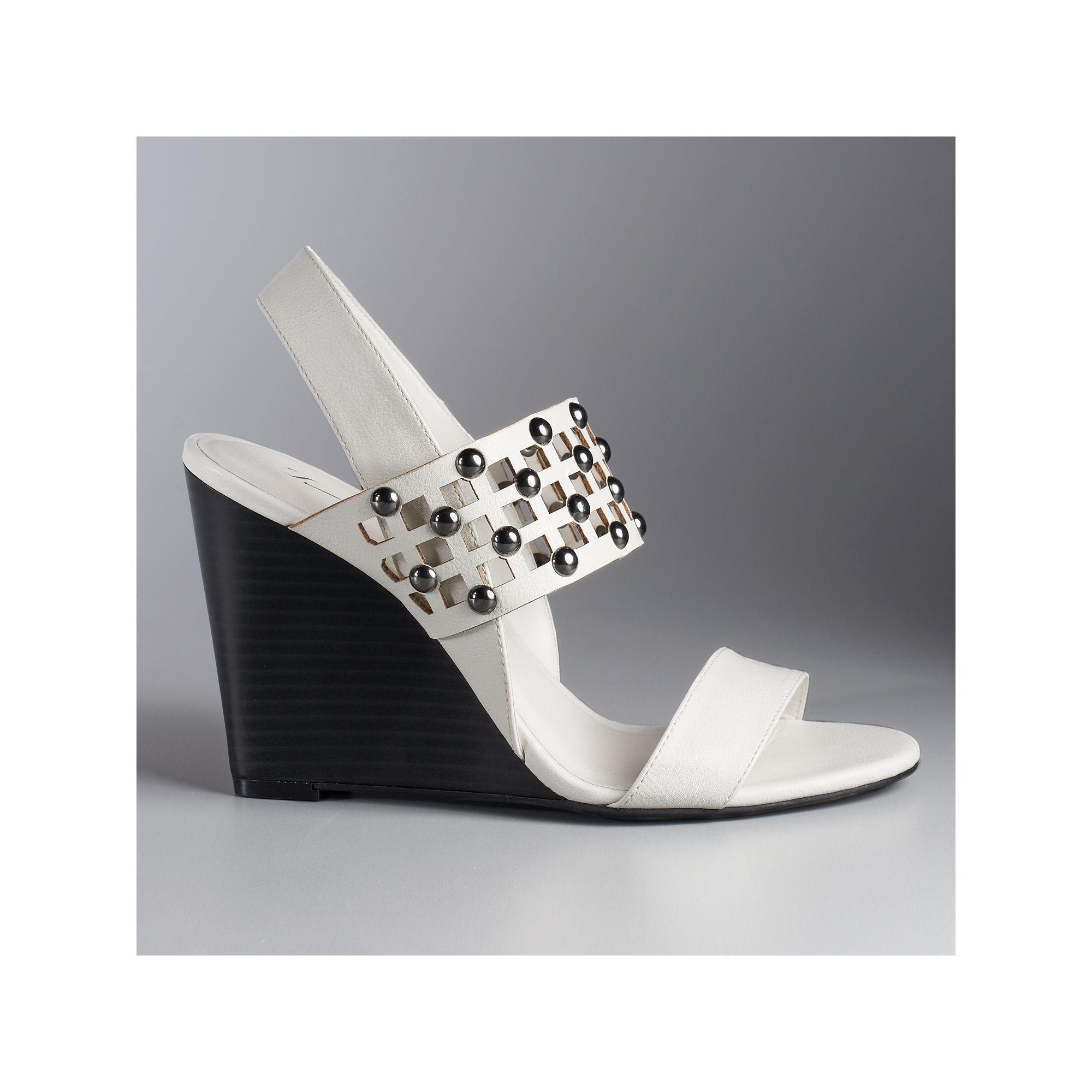 Simply Vera Vera Wang Women's Slingback Wedge Sandals