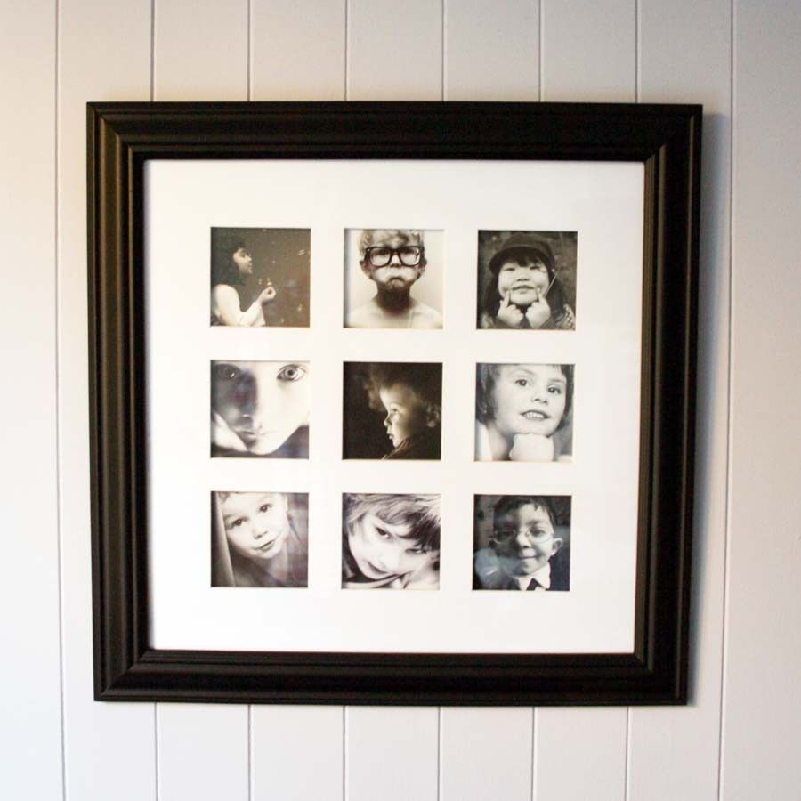 Black Multi Photo Frame For Instagram Prints Heath