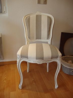 Chaise Louis XV n°1 relookée | Diy | Pinterest on