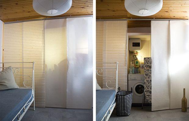 Cabine Armadio Con Tenda : Casafacile 12 soluzioni con una tenda: cabina armadio lavanderia