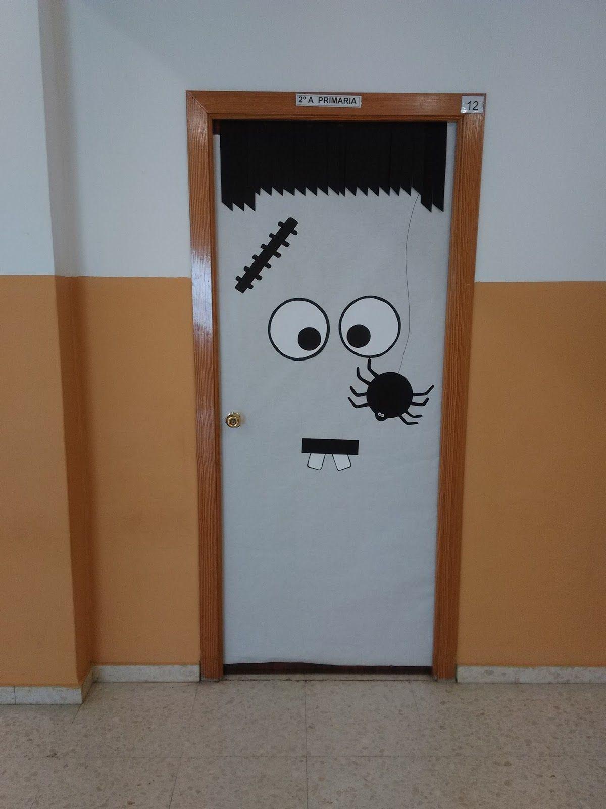 Resultado de imagen de puertas decoradas halloween for Decoracion para puertas halloween