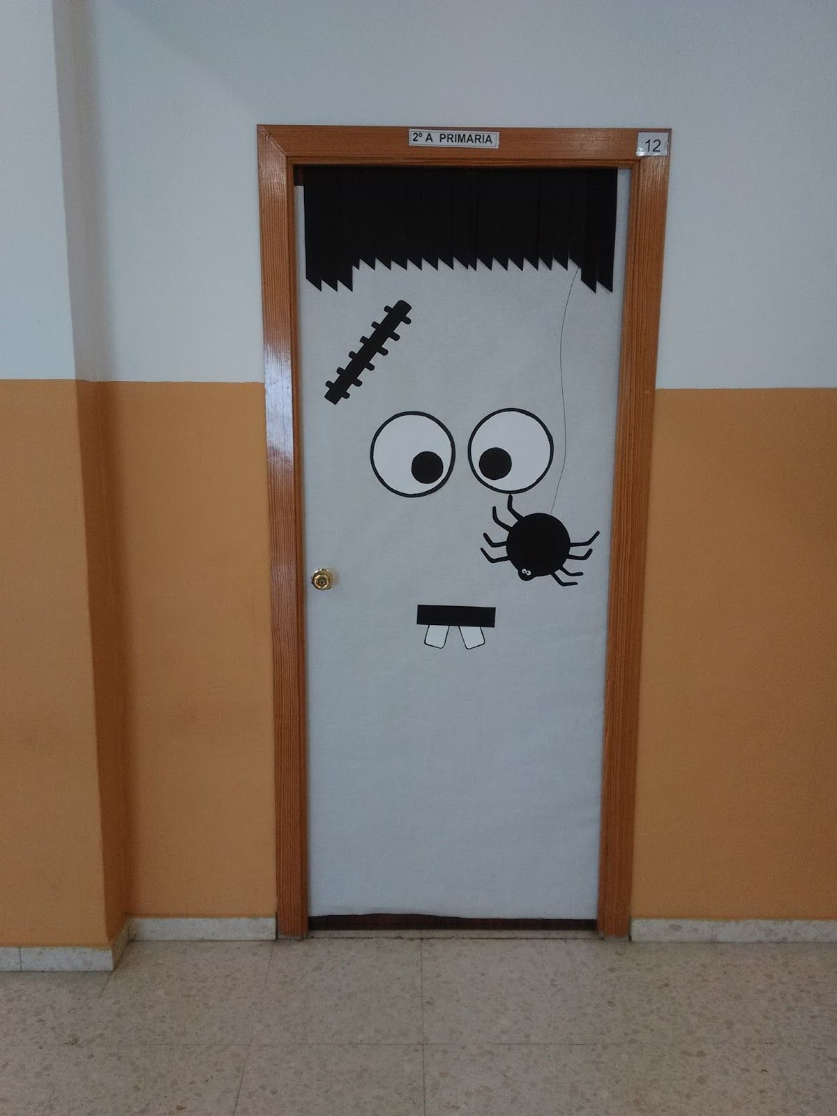 Primer ciclo ceip aljoxan halloween decoraci n for Puertas decoradas halloween