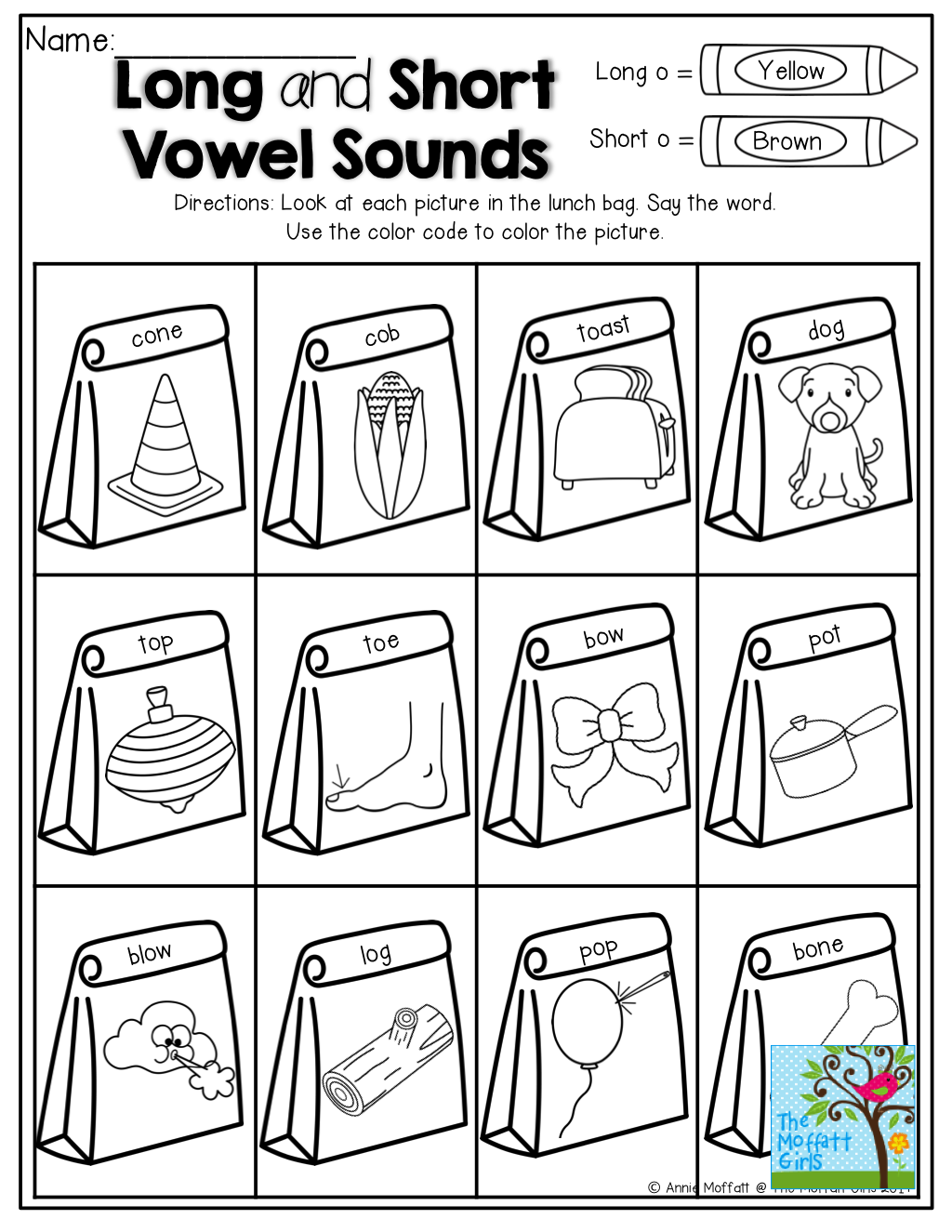 Long And Short Vowel Sounds Tons Of Back To School
