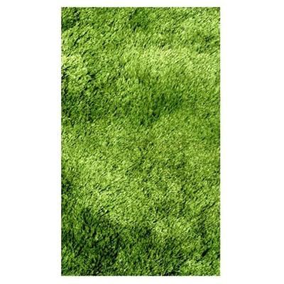 Silky Shag Green 39 In Round Area Rug Might Look Like Grass For