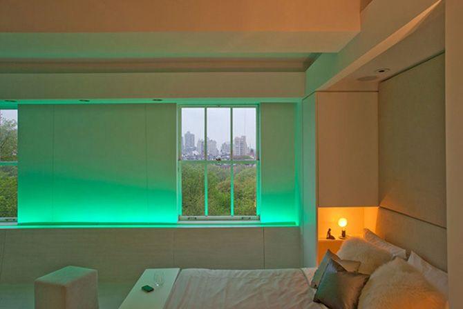 Modern Apartment Interior Design With Modern LED Mood Lighting By Joel  Sanders