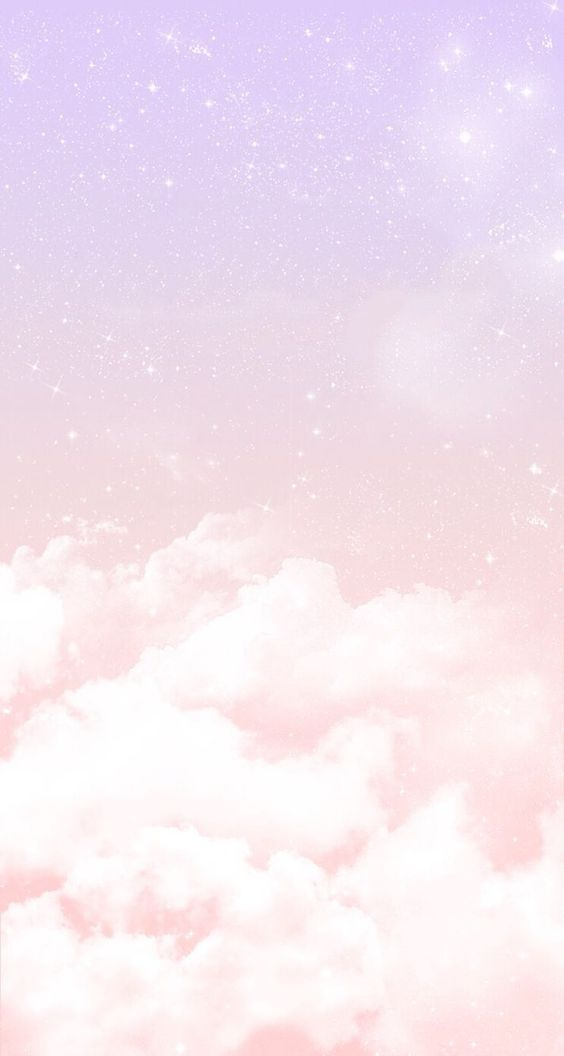 Pastel Lilac Pink Clouds Stars Iphone Wallpaper Phone