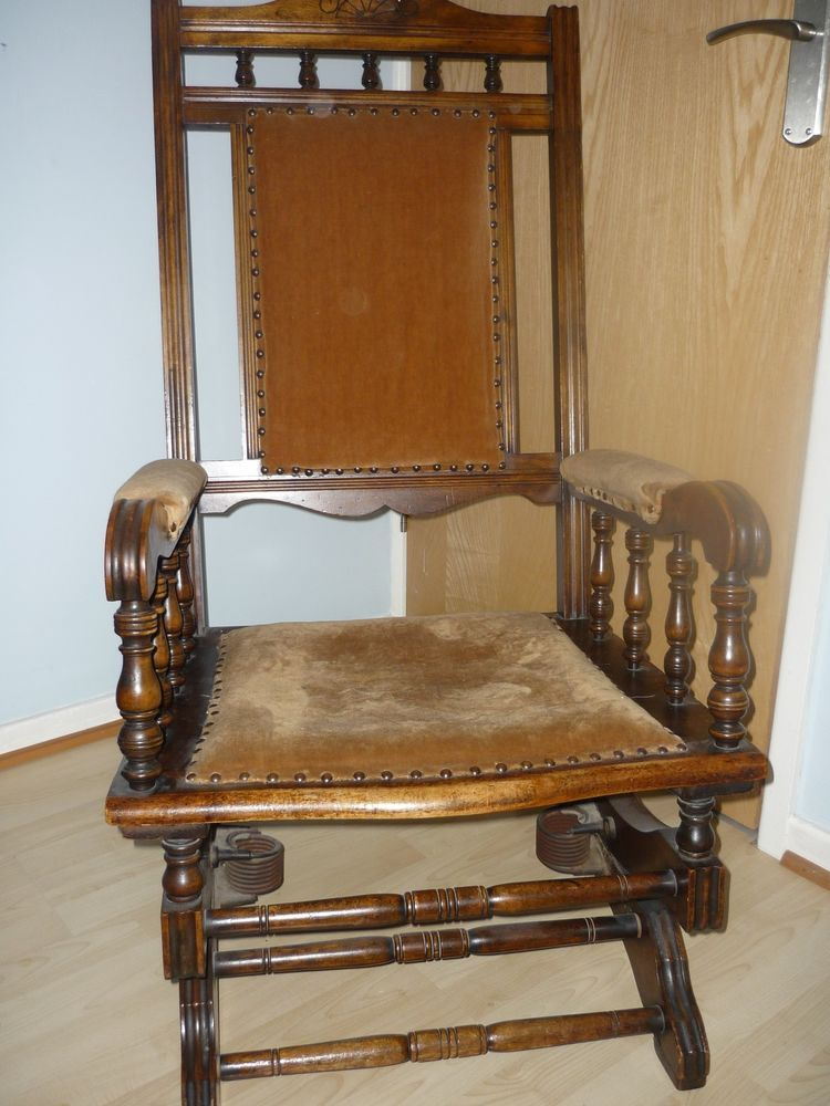 Details About Victorian American Style Rocking Chair