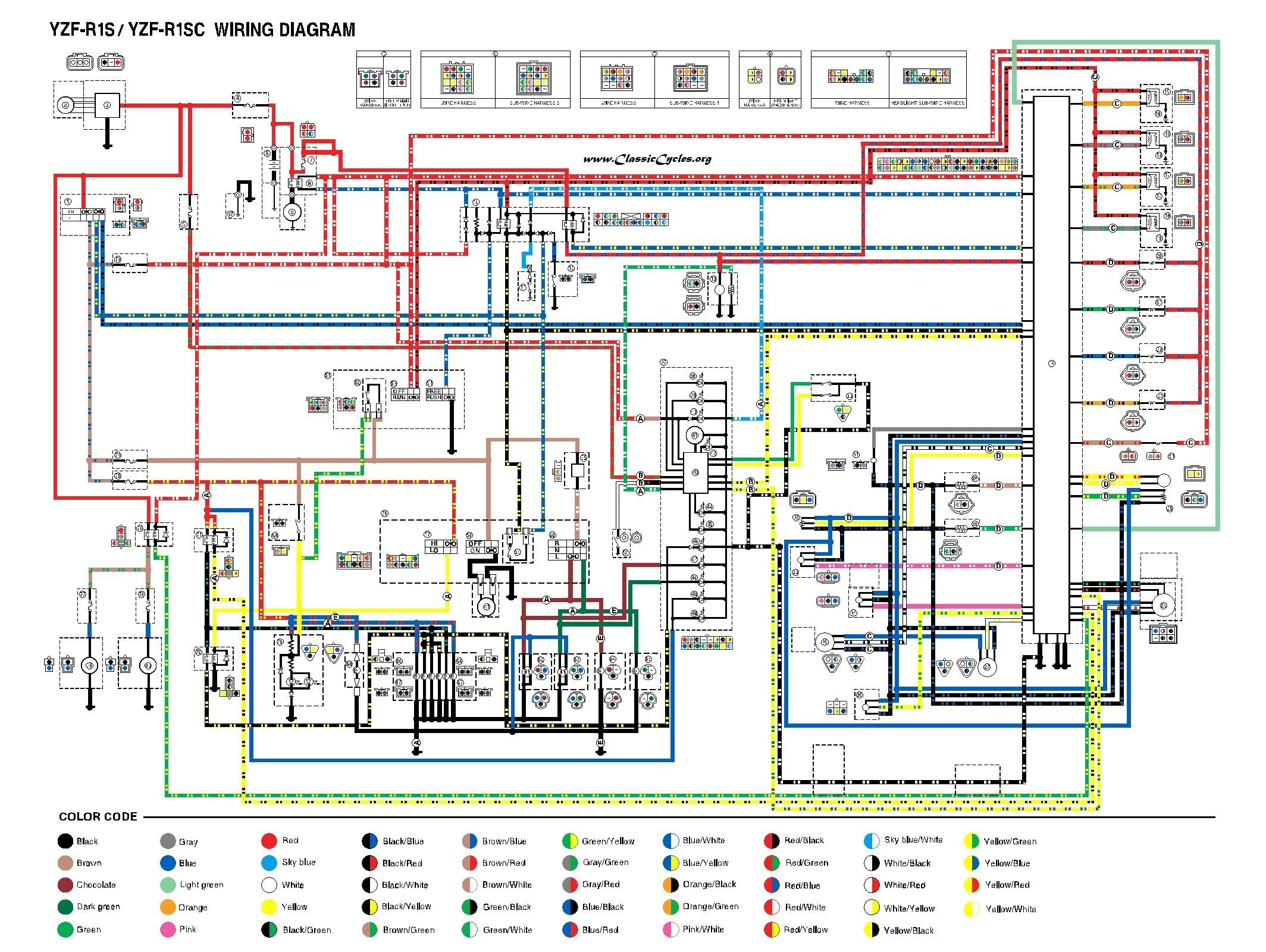 Yamaha Virago 535 Wiring Diagram 1987 Throughout