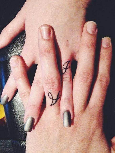 55 Wedding Band Tattoo Ideas To Rock Wedding Pinterest Ring