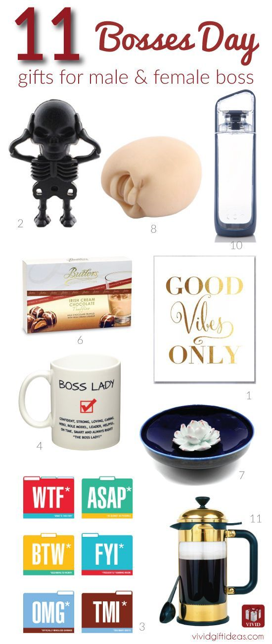 11 Fun Gift Ideas to Celebrate Bosses Day #bossesdaygiftideasoffices Celebrate Boss's Day on October 17. Get fun and creative executives gifts for boss. 11 Bosses Day gift ideas here. #bossesdaygiftideasoffices
