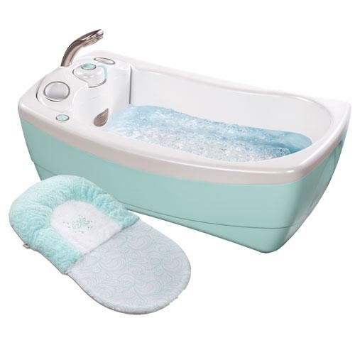 A Whirlpool Baby Tub With Shower Head Even Has A Vibrate Function