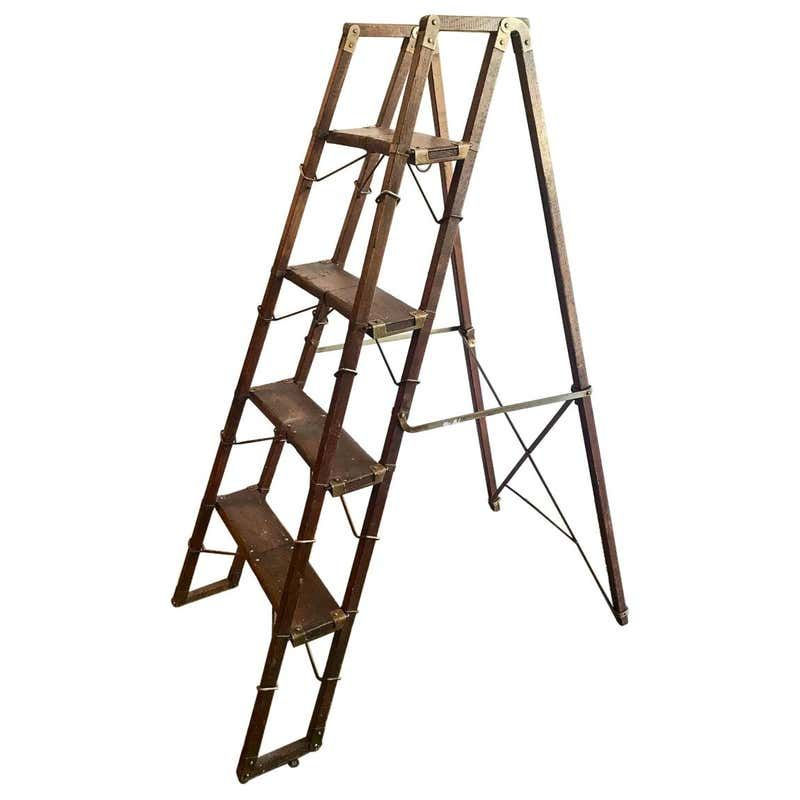 English Library Steps Or Ladder For Sale At 1stdibs English Library Ladder Step Ladders