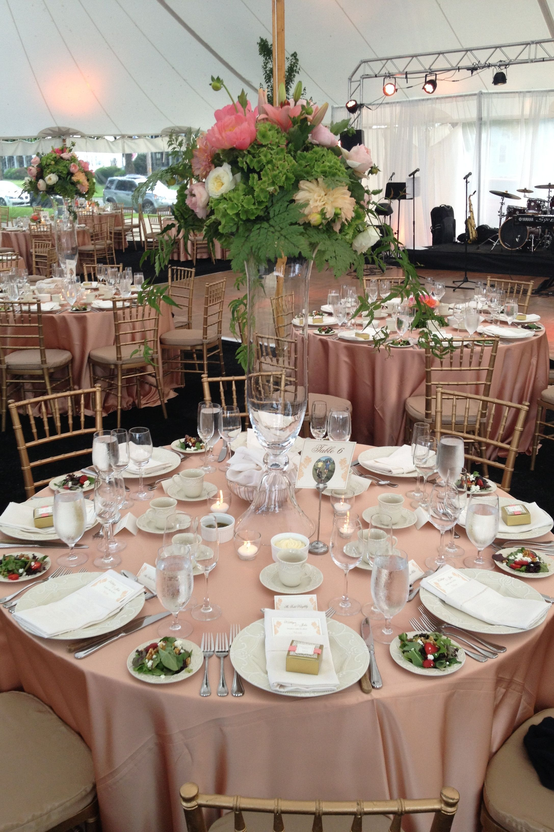 Blush & gold 1920s Gatsby themed backyard tent wedding