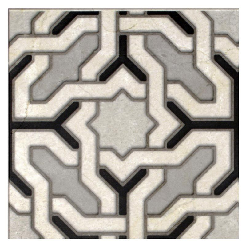 The modern Engage pattern will make a bold statement in your kitchen or bath. Wow your house guests with this geometric design