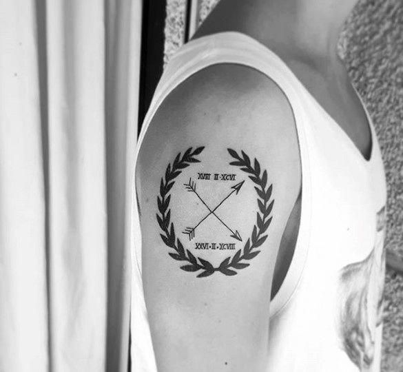 60 Laurel Wreath Tattoo Designs For Men – Branch Ink Ideas