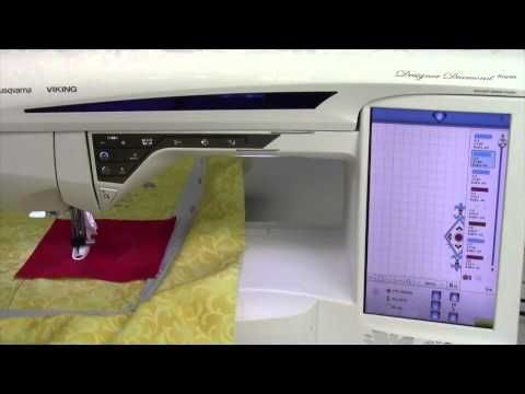 Husqvarna Viking Designer Diamond 90 Embroidery Applique - YouTube