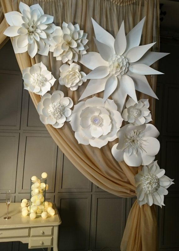 Large paper flowers giant flowers paper flower backdrop wedding large paper flowers giant flowers paper flower backdrop wedding decorations wedding backdrop decorative wedding bloom large flowers decor junglespirit Image collections