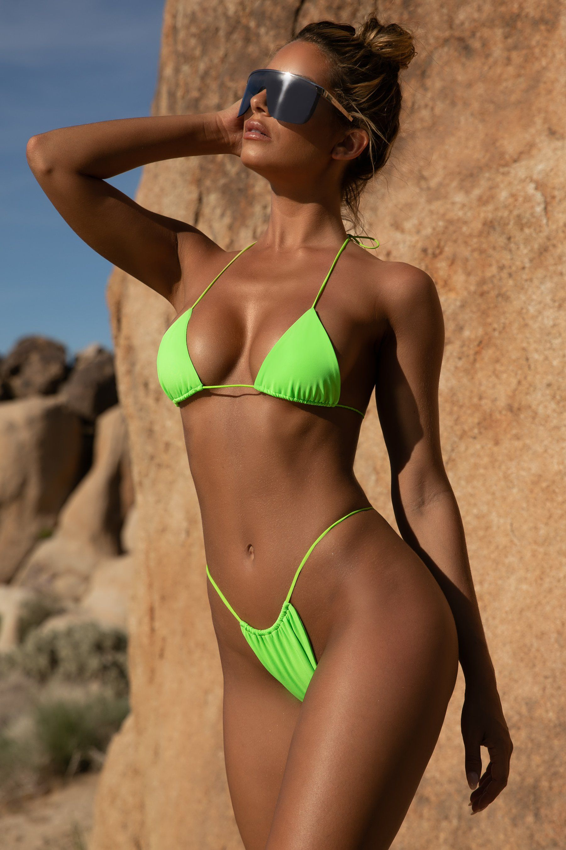 "Bademoden Brasil Bikini Oberteil Micro Triangel /""Light Blue/"" Cup C"