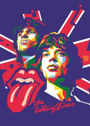 keith and mick by BALLA WPAP | metal posters - Displate | Displate thumbnail