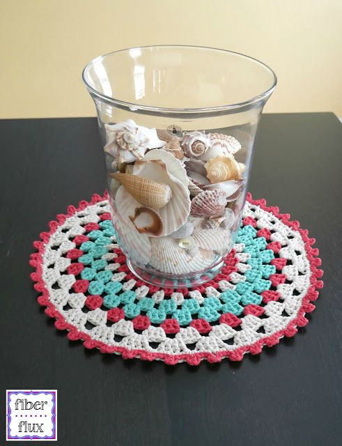 Free Crochet Pattern Coastal Placemat Placemats Patterns Crochet Placemats Free Crochet