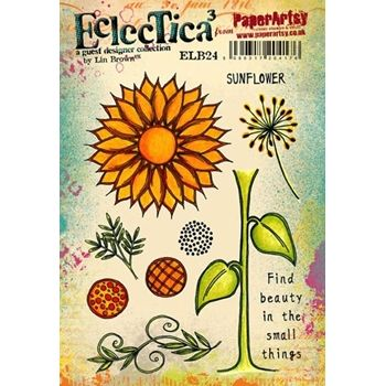 Paper Artsy ECLECTICA3 LIN BROWN 24 Rubber Cling Stamp ELB24