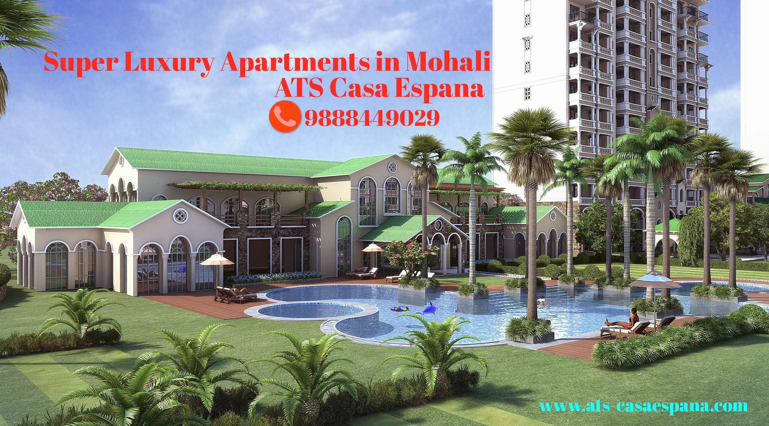 Ats Casa Espana Project Is In 25 Acres With 70 Open Area Buy Residential Luxury Flats Now Call 988844902 Luxury Apartments Luxury Flats Apartments For Sale