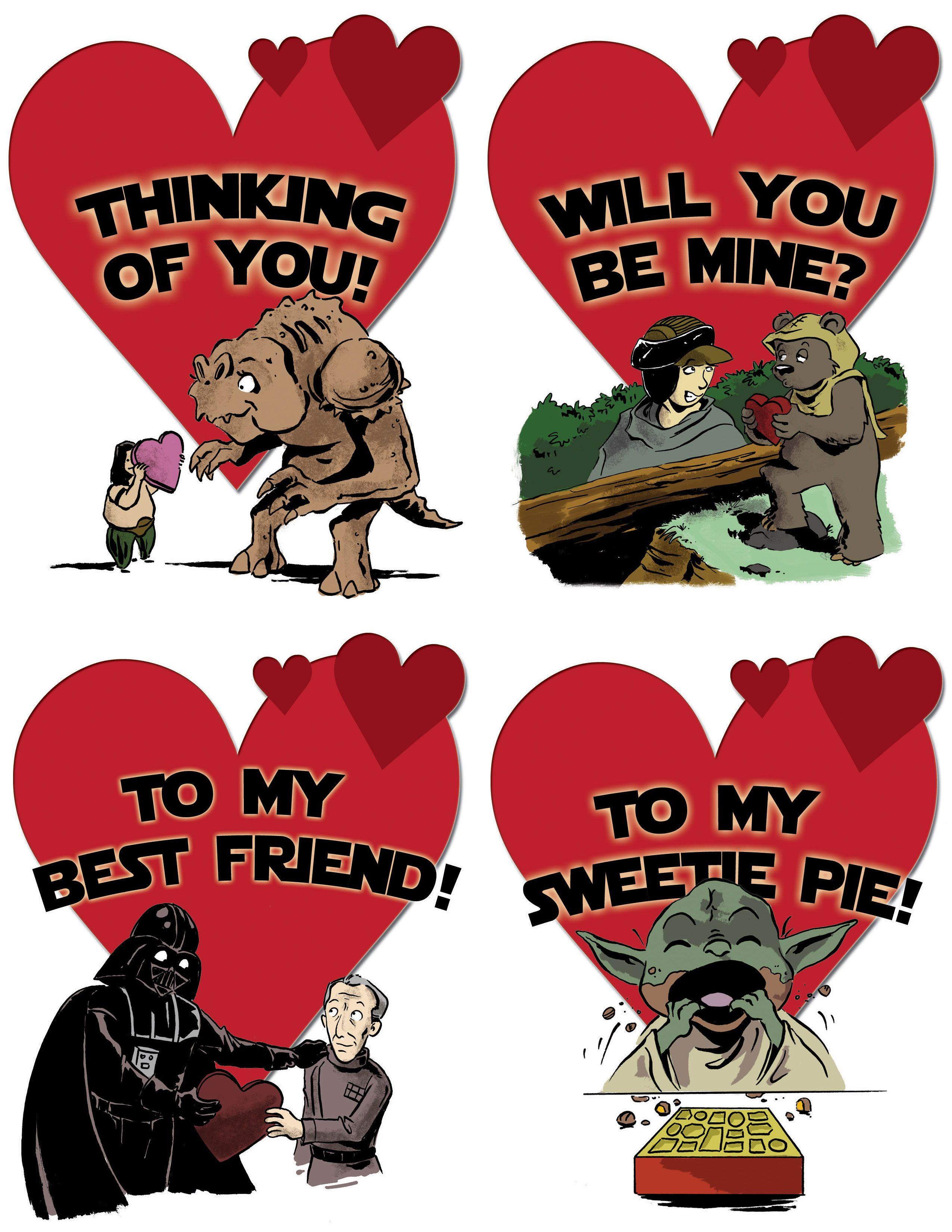 Star Wars Valentine Card Ideas – Free Printable Funny Valentine Cards