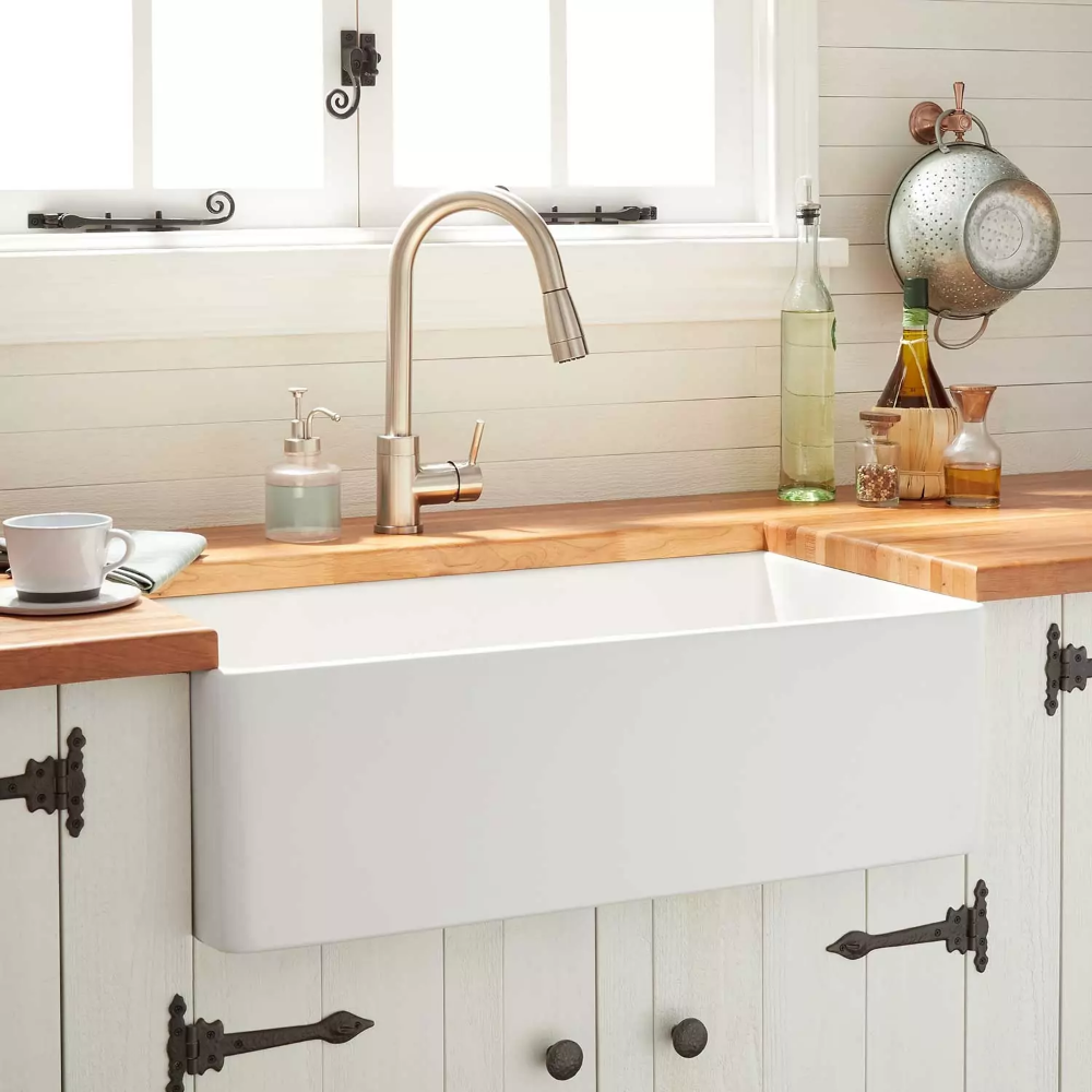 30 Reinhard Fireclay Farmhouse Sink White Farmhouse Fireclay Reinhard In 2020 Fireclay Farmhouse Sink Farmhouse Sink Kitchen Kitchen Design