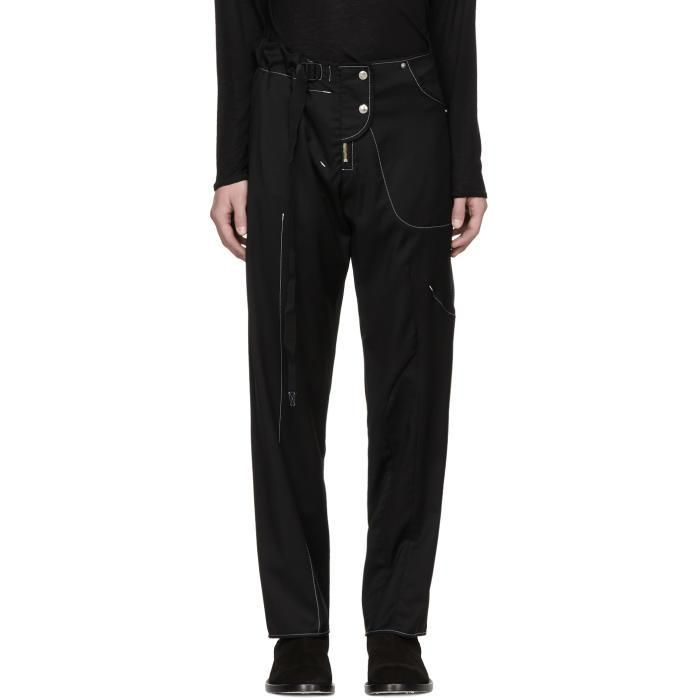 #SSENSE - #Vejas Vejas SSENSE Exclusive Black Hybridized Trousers - AdoreWe.com