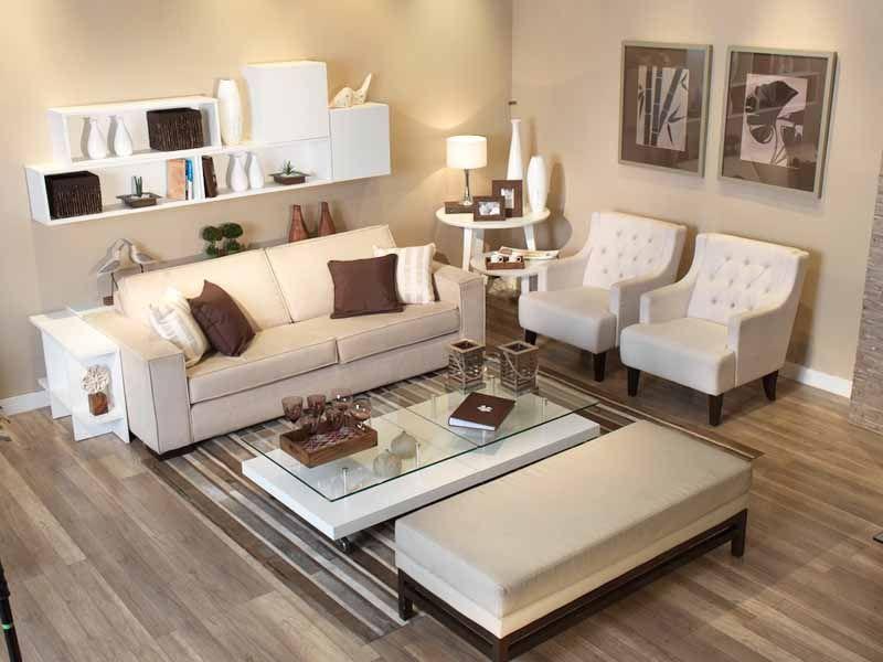Projeto de sala de estar por Ana Luiza Florez Arquitetura.