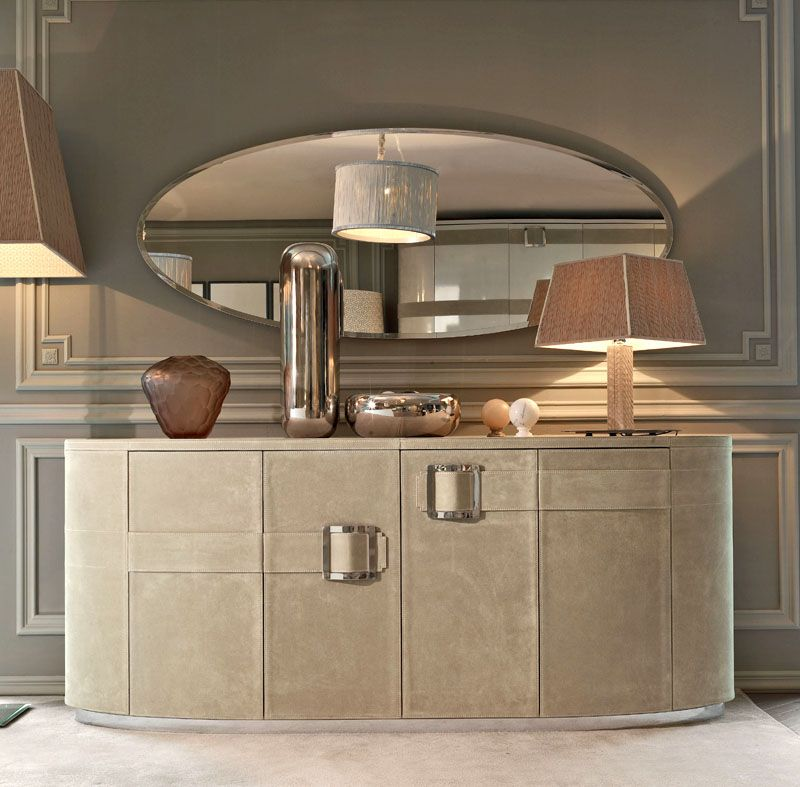 Upholstered Sideboard. Luxury Sideboard With Neutral Colors. Luxury  Furniture. Interior Design Ideas.