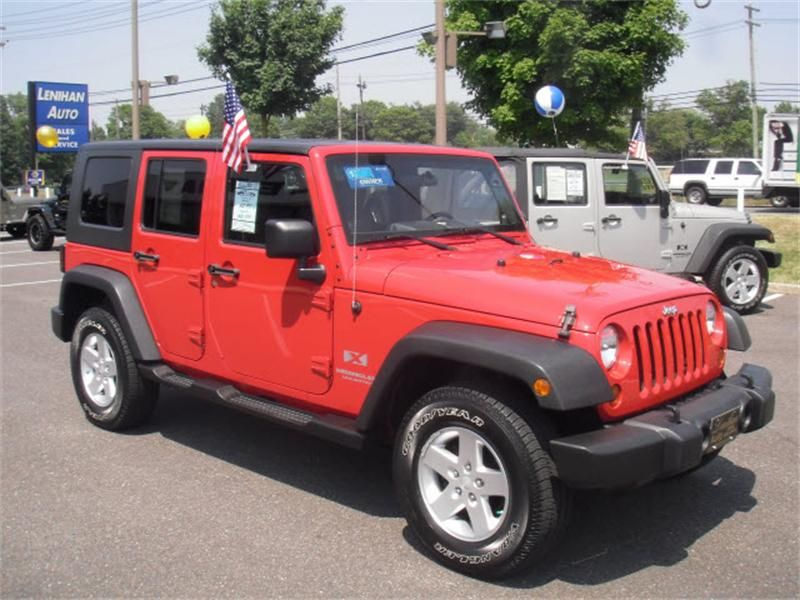Flame Red 2008 Jeep Wrangler Unlimited Unlimited X 4x4 Marlton Nj 1j8ga39178l577359 4 Jeep Wrangler 2008 Jeep Wrangler Unlimited 2008 Jeep Wrangler