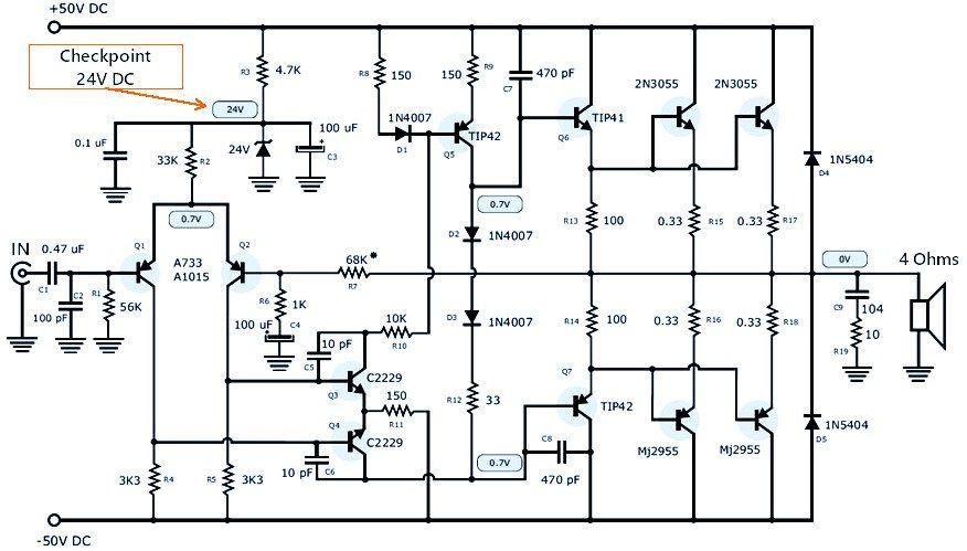 Schematic Diagram Of Power Amplifier 1000w Pdf Somurichcom